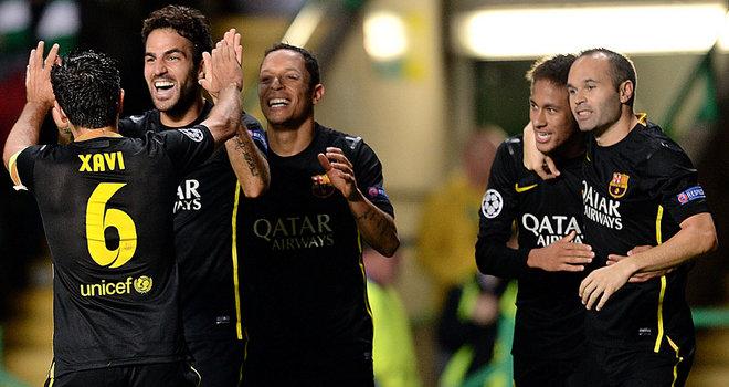 Fabregas celebrating the winning goal