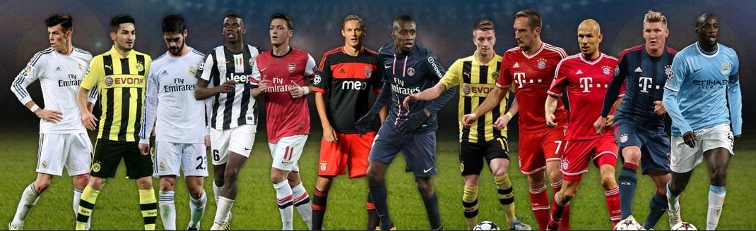 UEFA 2013 Midfielders