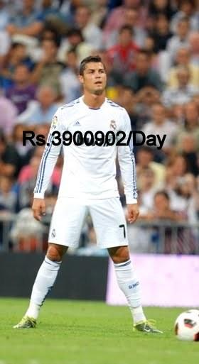 Cristiano Ronaldo Salary Per Month week Day