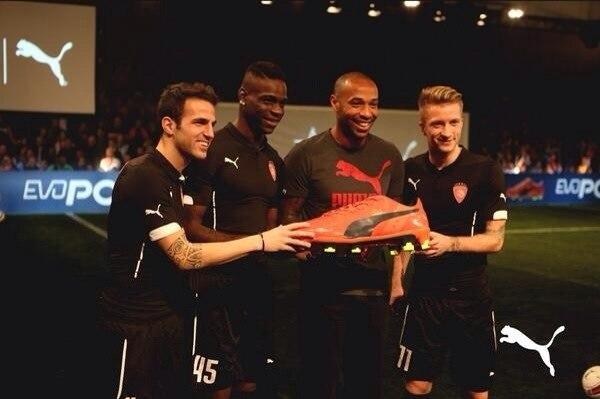 Puma evoPower boots Fabregas Balotelli Henry & Reus