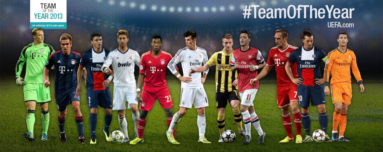 UEFA team of the yeay 2013