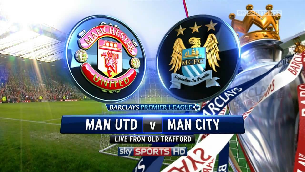 Manchester United vs Man City Telecast channels القنوات المفتوحة الناقلة لمباراة مانشستر سيتي ومانشستر يونايتد 25 3 2014 بالدوري الانجليزي