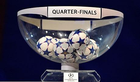 Quarter final draw date & time