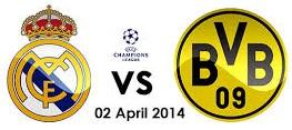 Real Madrid Vs Borussia Dortmund schedule