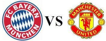 Bayern Munich vs Man United schedule