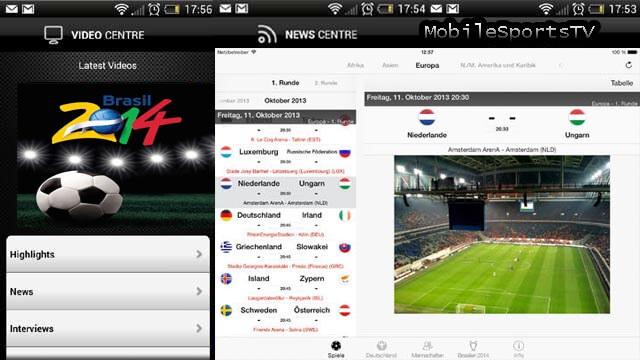 FIFA World Cup 2014 app