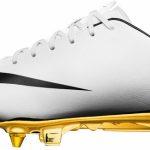 New White gold boots of Cristiano Ronaldo