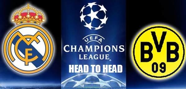 Real Madrid Vs Borussia Dortmund Head to Head