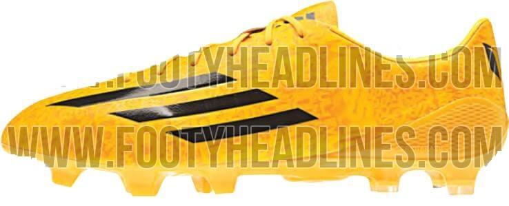 Adidas Adizero gold white lionel messi boots