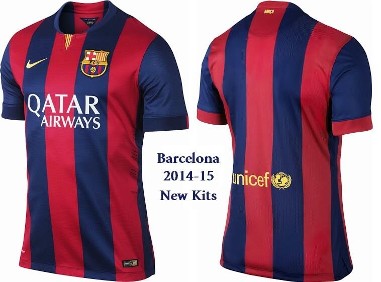 Barcelona new 2014 15 home away kits jersey shorts - New home barcelona ...