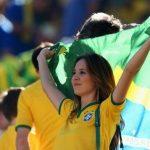 A Brazilian girl fan