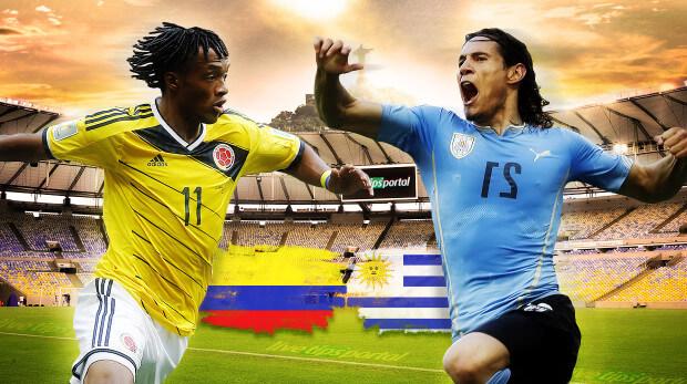 Colombia vs Uruguay 2014 World Cup