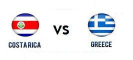Costa Rica vs Greece Schedule