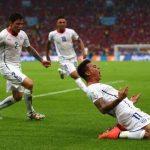 Edurado Vargas goal celebration vs Spain