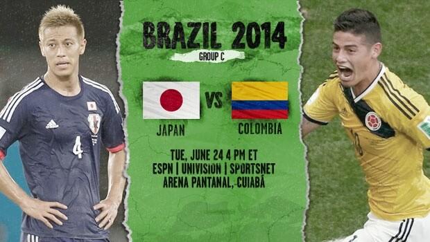 Japan vs Columbia 2014 World Cup