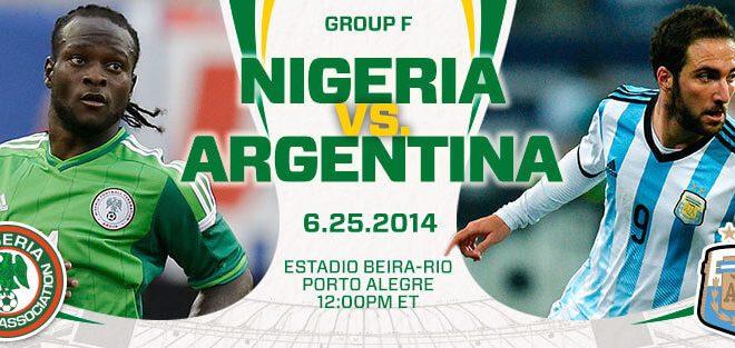 Nigeria vs Argentina 2014 World Cup