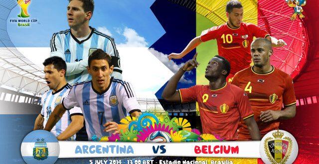 Argentina vs Belgium 2014 World Cup Quarter final