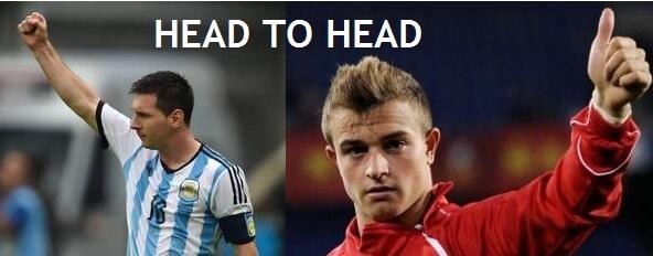 Argentina vs Switzerland Head to Head Record