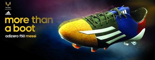 Lionel Messi Blaugrana Adidas Adizero F50 Boots For 2014–15 UCL
