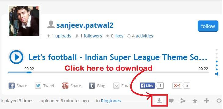 Download Indian Super League ringtone free