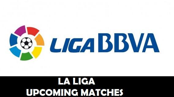 spanish la liga upcoming fixtures
