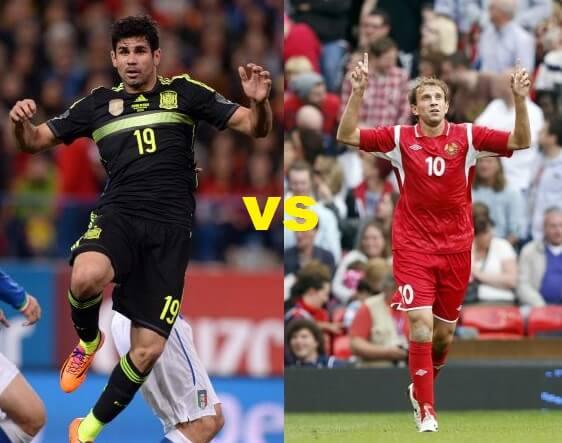Spain vs Belarus time TV telecast channels