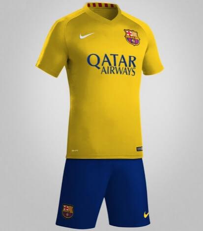Barcelona 2015-16 away kit leaked