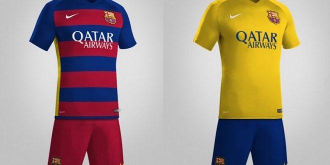 Barcelona 2015-16 home away jersey kits leaked