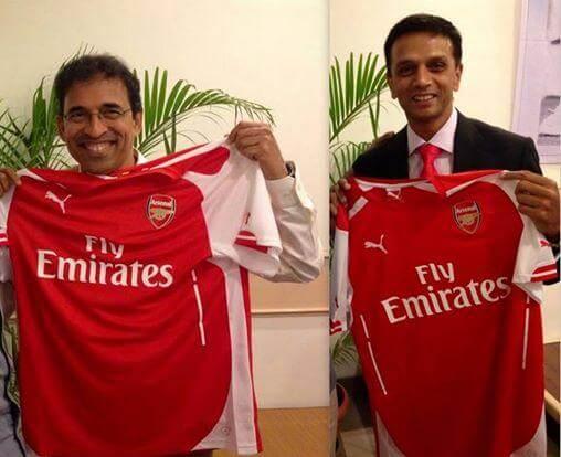 Cricketer Rahul Dravid favorite football club