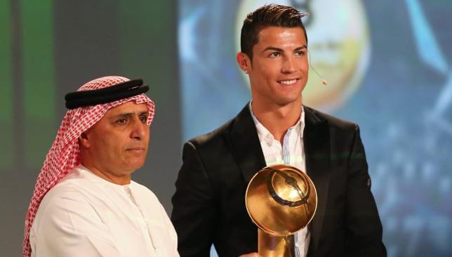 Cristiano Ronaldo won 2014 best player Globe Soccer Award