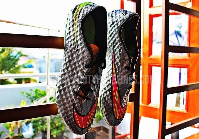 Nike New Silver Hypervenom football boots for Neymar