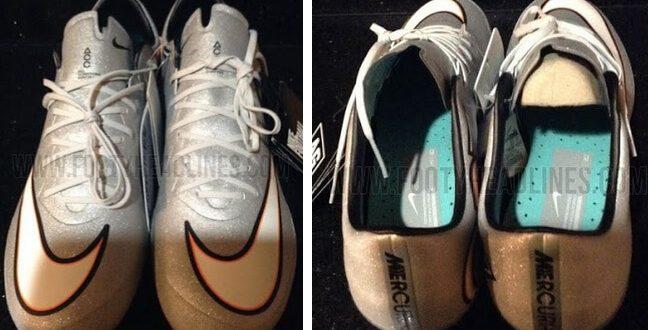 Nike Silver white boots for Cristiano Ronaldo