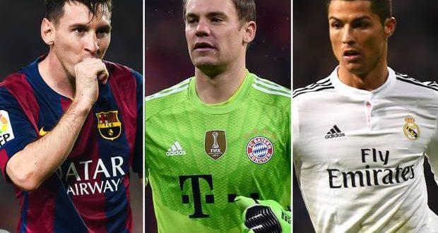 Top 3 Nominations for 2014 FIFA Ballon D'or