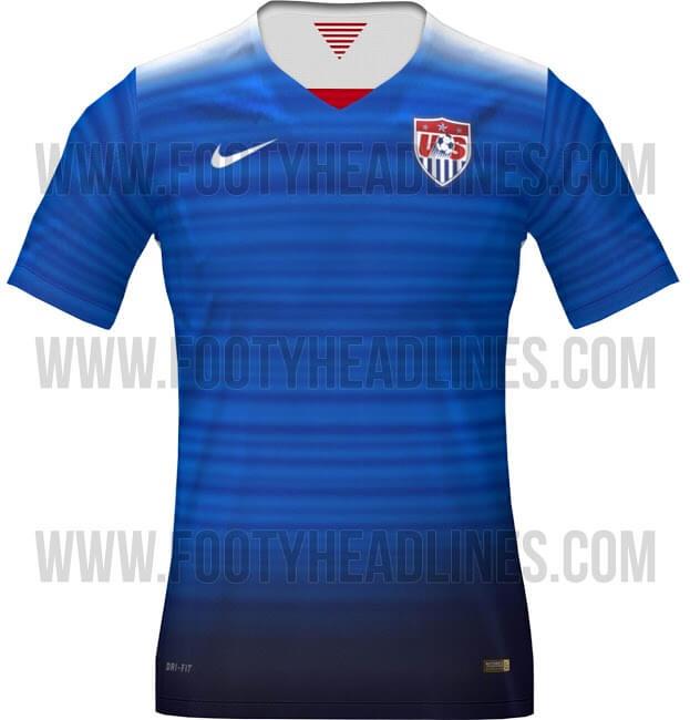 USA 2015 Away jersey kit