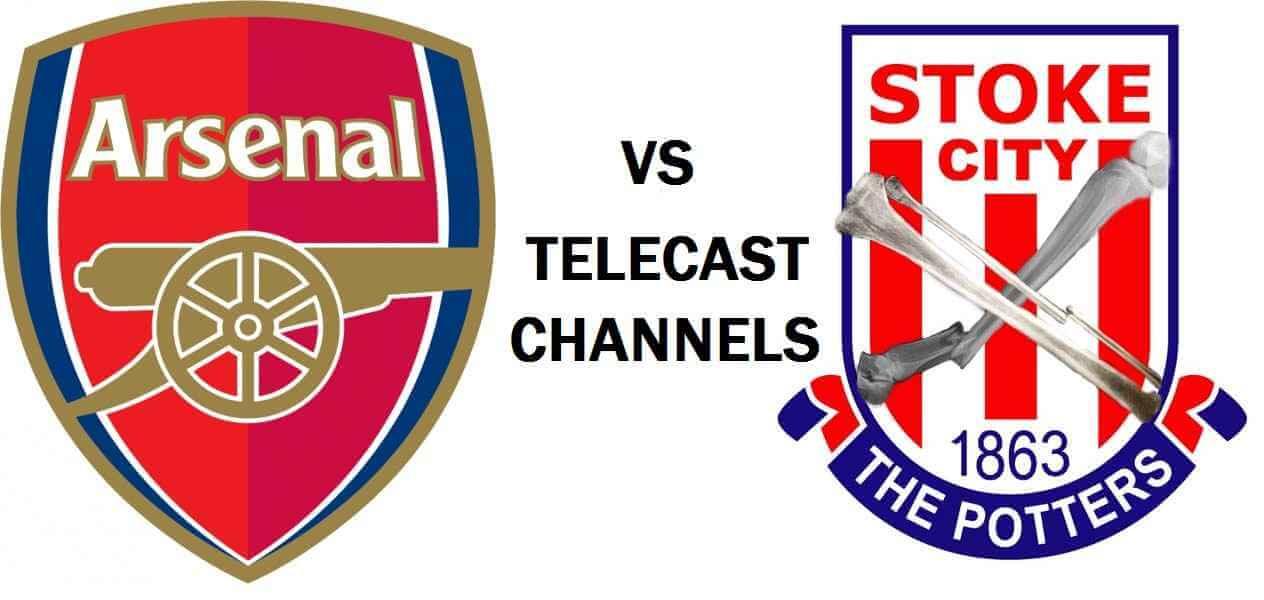 Arsenal vs Stoke City telecast in India