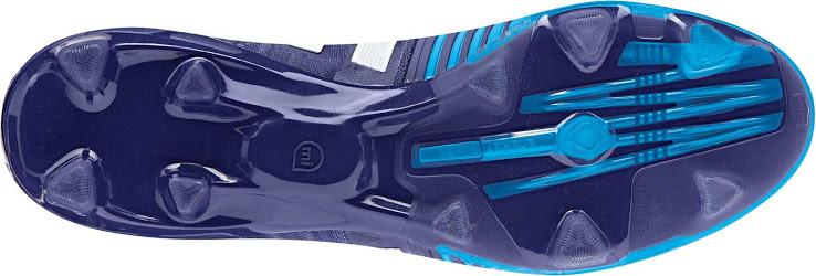 Blue white Adidas Nitrocharge Amazon boots of Adidas