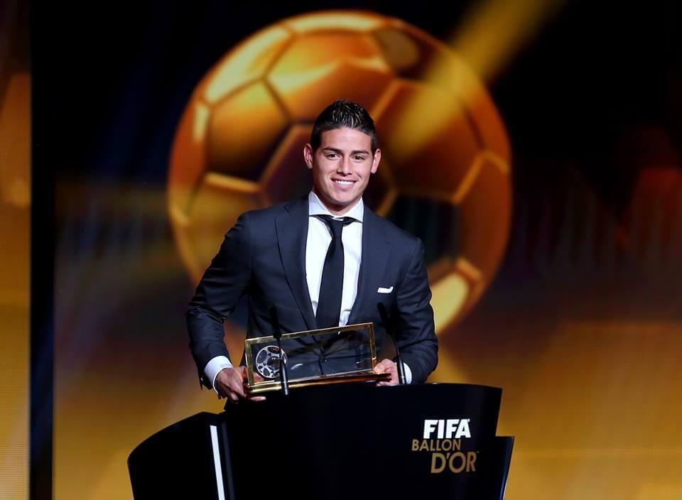 James Rodriguez won best goal of year award