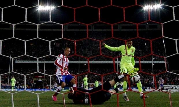 Neymar goal vs Atletico Madrid in 2-3 win of Copa Del Rey