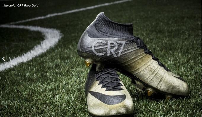 7a43103e0 Cristiano Ronaldo New Nike Mercurial CR7 Rare Gold-Black Football ...