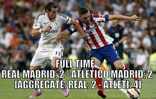 Real Madrid vs Atletico Madrid 2-2 goals highlights Copa del Rey