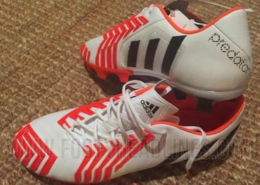 Red White black Adidas predator 2015 Instinct boots