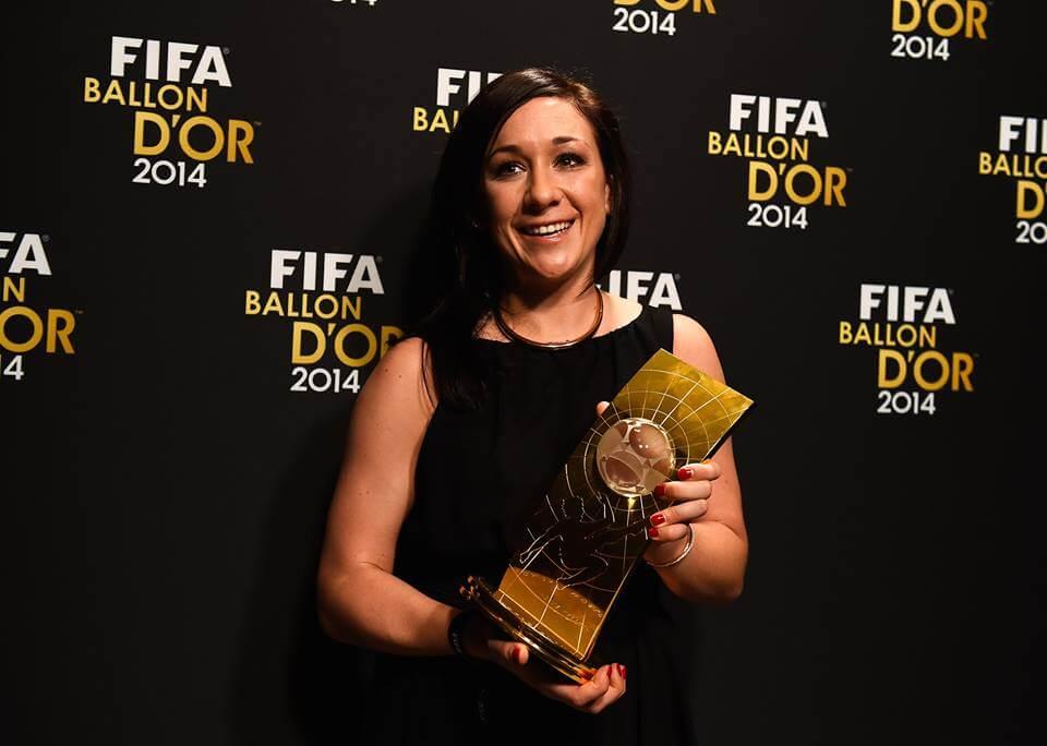 Women player of the year Nadine Kessler