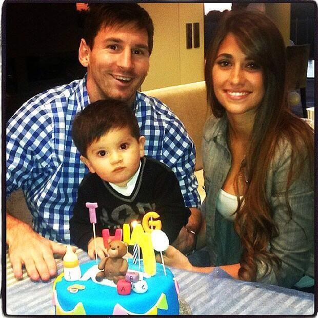 Lionel Messi with Antonella Roccuzzo