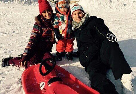 Messi with Antonella Roccuzzo and Thiago Messi