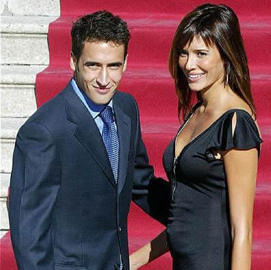 Raul Gonzalez with Mamen Sanz