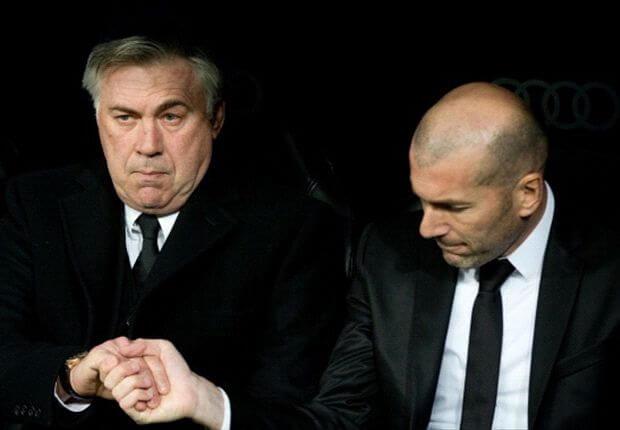 Carlo Ancelotti with Zinedine Zidane
