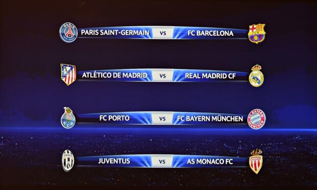 Champions League 2014-15 quarter final ist fixtures
