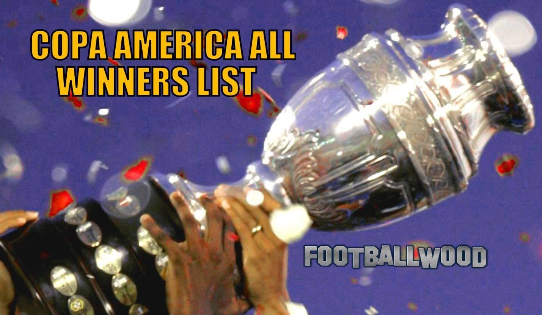 All winners of Copa America football