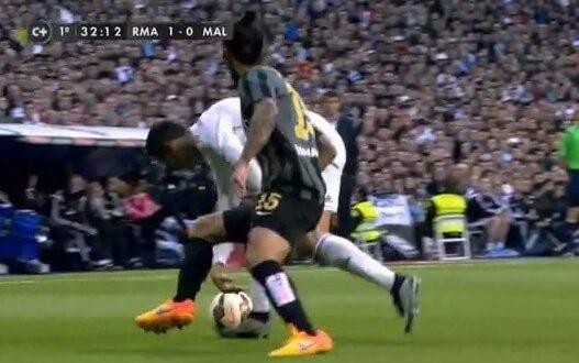 Cristiano Ronaldo nutmeg vs Malaga