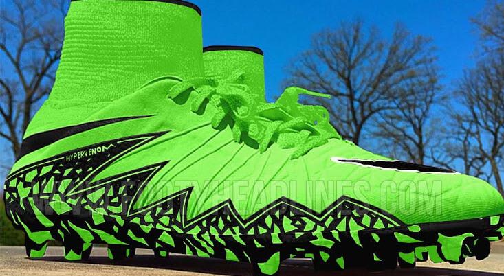 2b244e56f Nike Hypervenom 2 Phantom Green Black 2015 Football Boots Leaked ...